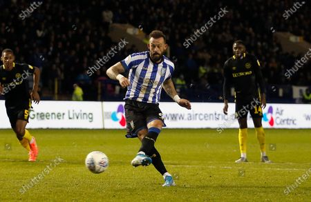 Stock Picture of Sheffield Wednesday's Steven Fletcher scores from the penalty spot. 1-1