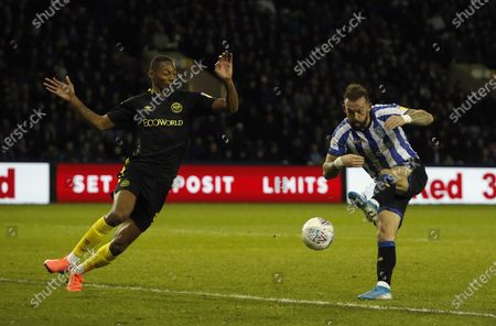 Sheffield Wednesday's Steven Fletcher scores his second goal. 2-1