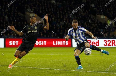 Stock Image of Sheffield Wednesday's Steven Fletcher scores his second goal. 2-1