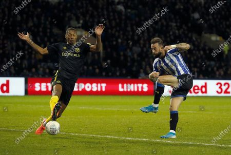 Stock Photo of Sheffield Wednesday's Steven Fletcher scores his second goal. 2-1