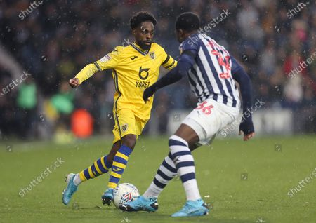 Stock Picture of Nathan Dyer of Swansea City runs at West Bromwich Albion's Nathan Ferguson