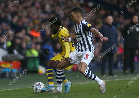 Nathan Dyer of Swansea City battles with West Bromwich Albion's Kieran Gibbs