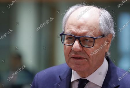 Malta's Finance Minister Edward Scicluna looks on during a Finance Ministers' meeting at the European Council in Brussels, Belgium, 05 December 2019.