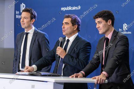 Editorial picture of Republicans party press conference on pension reform, Paris, France - 04 Dec 2019