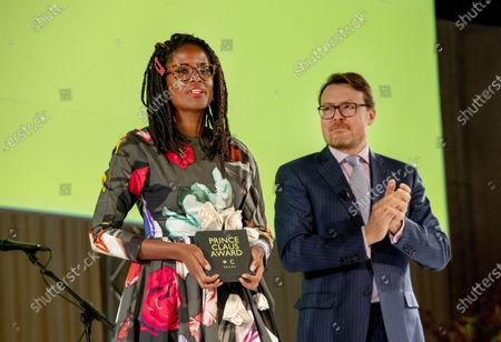 Stock Photo of Mariam Kamara and Prince Constantijn