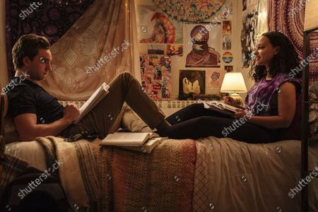Stock Image of Jackson White as Brendan Fletcher and Jasmine Cephas Jones as Chloe