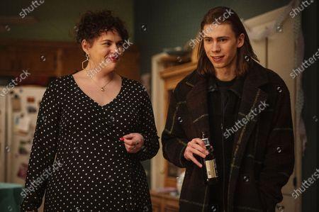 Katie Kershaw as Amanda Olney and Owen Teague as Julian Spitzer