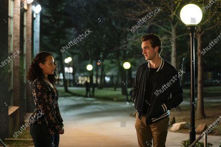Jasmine Cephas Jones as Chloe and Jackson White as Brendan Fletcher