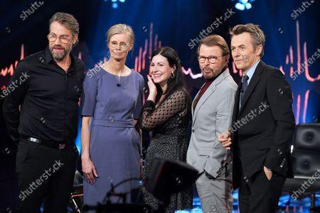 Peter Forsberg, Hedvig Montgomery, Nour El-Refai, Bjorn Ulvaeus and Fredrik Skavlan