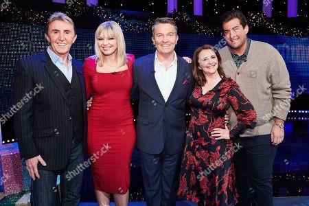 (L-R) Nik Speakman, Kate Thornton, Host Bradley Walsh, Lucy Porter and James Argent