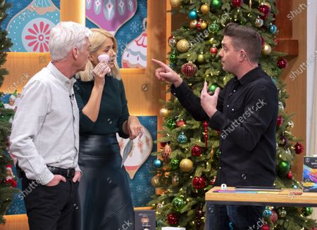 Stock Photo of Steve Wilson, Phillip Schofield and Holly Willoughby