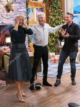Steve Wilson, Phillip Schofield and Holly Willoughby