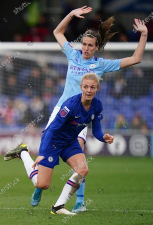 Sophie Ingle of Chelsea and Jill Scott of Manchester City