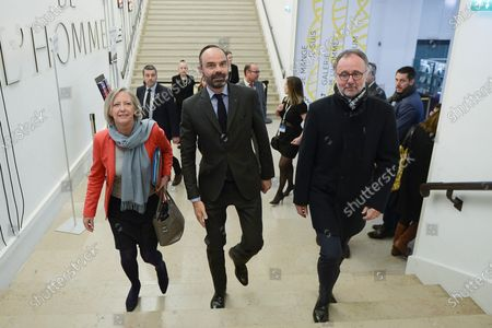 Sophie Cluzel, Secretary of State for the disabled and Prime Minister Edouard Philippe