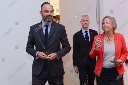 Edouard Philippe and Sophie Cluzel, Secretary of State for the disabled and Franck Riester, Minister of Culture.