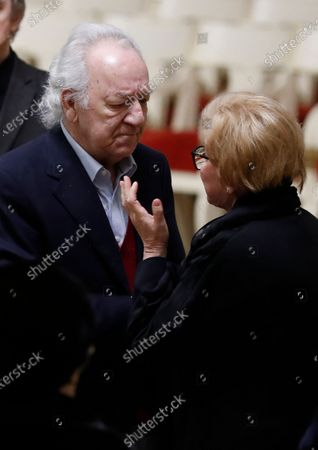 Russian conductor Yuri Temirkanov (L) condolences to relatives during a farewell ceremony to Latvian-born conductor Mariss Jansons in Grand Hall of Philharmonic in St. Petersburg, Russia, 05 December 2019. Reports on 01 December 2019 state Mariss Jansons has died on 30 December 2019 aged 76 of a heart failure. Jansons worked for leading concert houses, including Vienna Philharmonic, Bavarian Radio Symphony Orchestra, the Amsterdam Royal Concertgebouw Orchestra, Pittsburgh Symphony Orchestra and others.