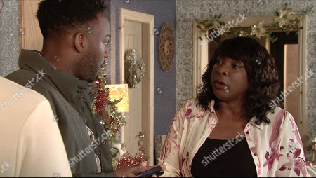 Ep 9955 Wednesday 18th December 2019 - 2nd Ep Michael Bailey, as played by Ryan Russell, is desperate for Grace and Tianna to arrive at the Winter Wonderland, he calls Grace but finds her phone is dead. Back at No.3, Michael makes excuses for Grace but Aggie Bailey, as played by Lorna Laidlaw, is furious.