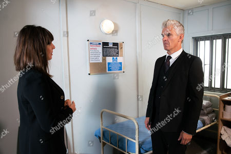 Ep 9956 Friday 20th December 2019 - 1st Ep As Robert Preston, as played by Tristan Gemmill, waits in his cell to set off for court, he's puzzled to learn from Paula, as played by Stirling Gallagher, there's been a delay as new information has come to light.