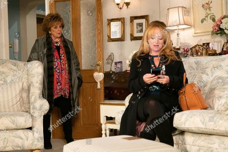 Ep 9956 Friday 20th December 2019 - 1st Ep Jenny Connor, as played by Sally-Ann Matthews, invites Rita Tanner, as played by Barbara Knox, to spend the afternoon at Winter Wonderland. Jenny collects Rita from her flat but the excitement evaporates when Rita takes offence at being treated like a charity case and calls off the outing, leaving Jenny baffled.