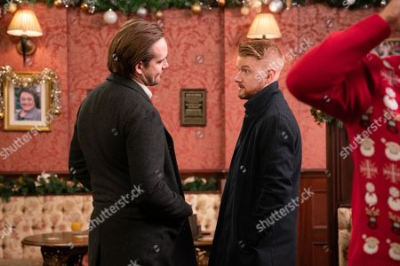 Ep 9960 Tuesday 24th December 2019 In the Rovers, a drunk Ali Neeson, as played by James Burrows, vows to win back Maria and see Gary Windass, as played by Mikey North, get his comeuppance.