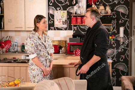 Ep 9976 & 9977 Friday 10th January 2020 Steve McDonald, as played by Simon Gregson, clocks the tension and confronts Tracy McDonald, as played by Kate Ford, wanting to know what happened. Tracy admits she had a one night stand. As Steve and Tracy row, Steve's gobsmacked to discover who Tracy slept with. Tracy assures Steve she was just feeling low as he'd been ignoring her for weeks. Steve is devastated, is their marriage over?