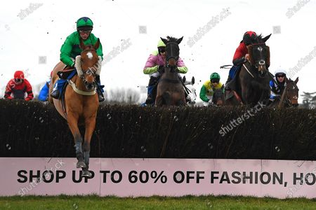 Winner of The Weatherbys Racing Bank Foreign Exchange Handicap Chase Hit the Highway (l) ridden by Jamie Moore and trained by Chris Gordon during Horse Racing at Wincanton Racecourse on 5th December 2019