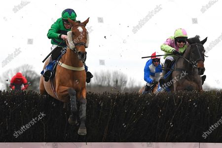 Winner of The Weatherbys Racing Bank Foreign Exchange Handicap Chase Hit the Highway ridden by Jamie Moore and trained by Chris Gordon during Horse Racing at Wincanton Racecourse on 5th December 2019