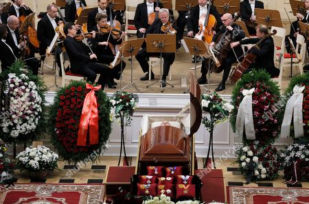Editorial image of Russia Mariss Jansons Funeral, St.Petersburg, Russian Federation - 05 Dec 2019