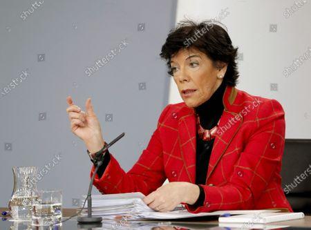 Editorial photo of Spanish cabinet meeting presser, Madrid, Spain - 05 Dec 2019