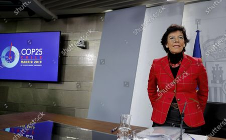 Editorial image of Spanish cabinet meeting presser, Madrid, Spain - 05 Dec 2019
