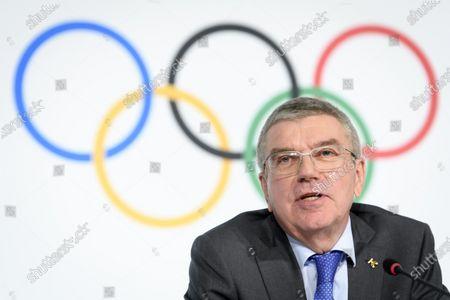 Editorial photo of IOC executive board meeting, Lausanne, Switzerland - 05 Dec 2019