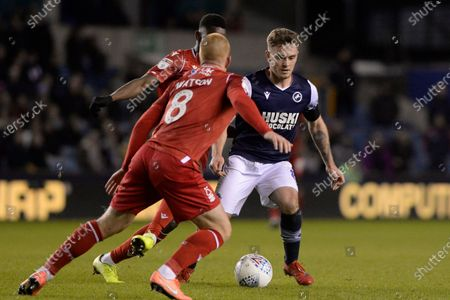 Ben Thompson of Millwall in action during the Sky Bet Championship match between Millwall and Nottingham Forest at The Den in London, UK - 6th December 2019