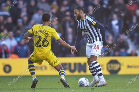 8th December 2019, The Hawthorns, West Bromwich, England; Sky Bet Championship, West Bromwich Albion v Swansea City : Matt Phillips (10) of West Bromwich Albion under pressure from Kyle Naughton (26) of Swansea City Credit: Gareth Dalley/News Images