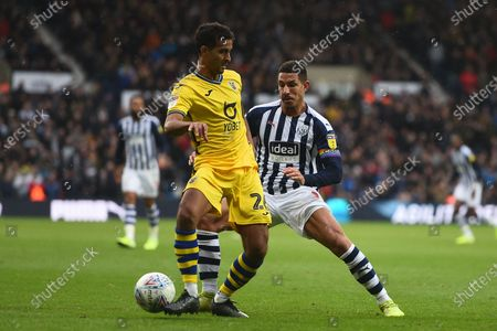 8th December 2019, The Hawthorns, West Bromwich, England; Sky Bet Championship, West Bromwich Albion v Swansea City : Kyle Naughton (26) of Swansea City and Jake Livermore (8) of West Bromwich Albion both challenge for the ballCredit: Gareth Dalley/News Images