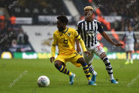 8th December 2019, The Hawthorns, West Bromwich, England; Sky Bet Championship, West Bromwich Albion v Swansea City : Nathan Dyer (12) of Swansea City under pressure from Grady Diangana (29) of West Bromwich AlbionCredit: Gareth Dalley/News Images