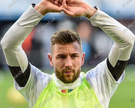 8th December 2019, St. James's Park, Newcastle, England; Premier League, Newcastle United v Southampton : Paul Dummett (3) of Newcastle United during the pre-game warmup