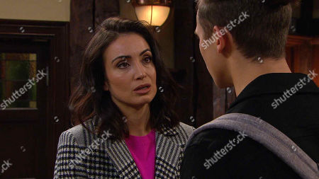 Ep 8697 Monday 6th January 2020  Jacob Gallagher, as played by Joe Warren Plant, is hurt when he finds out about Leyla Harding, as played by Rokhsaneh Ghawam-Shahidi, kissing Liam.