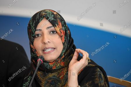 Editorial photo of Yemeni Nobel Peace Prize laureate Tawakkul Karman in Rome, Italy - 05 Dec 2019