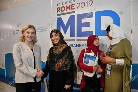 Editorial picture of Yemeni Nobel Peace Prize laureate Tawakkul Karman in Rome, Italy - 05 Dec 2019
