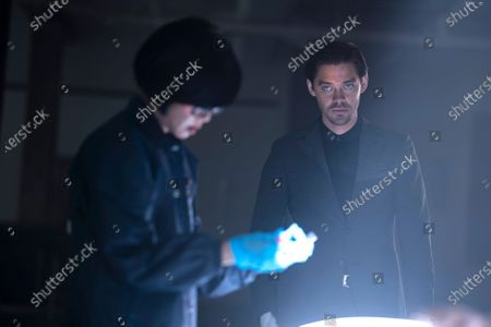 Keiko Agena as Dr. Edrisa Tanaka and Tom Payne as Malcolm Bright