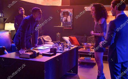Stock Photo of Hampton Fluker as Estime, Aurora Perrineau as Dani Powell and Tom Payne as Malcolm Bright