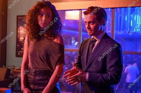 Aurora Perrineau as Dani Powell and Tom Payne as Malcolm Bright