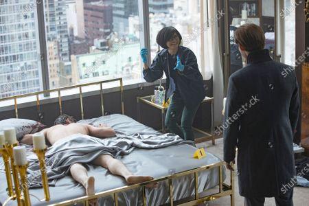 Keiko Agena Dr. Edrisa Tanaka and Tom Payne as Malcolm Bright