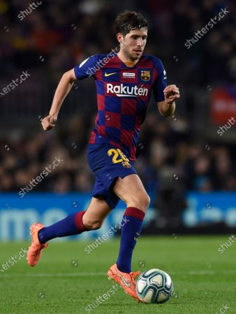 Stock Photo of Sergi Roberto of FC Barcelona and Cucho Hernandez of RCD Mallorca