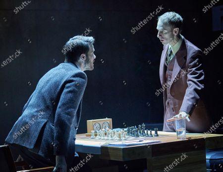 Ronan Rafferty as Boris Spassky, Robert Emms as Bobby Fischer