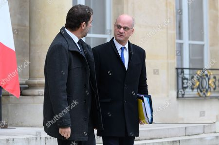 Christophe Castaner, Interior Minister and Jean-Michel Blanquer, Education Minister