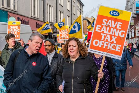 PCS union members, from HMRC Ealing, stage a walk out and rally in opposition to the planned closure of their office by the end of 2020. They work in International House, Ealing, and voted overwhelmingly for strike action and action short of a strike. Mark Serwotka spoke at the rally.