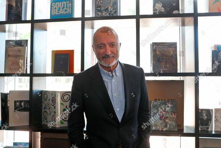 "Spanish novelist and journalist Arturo Perez Reverte poses for a photo in Miami to promote his book ""Sidi"