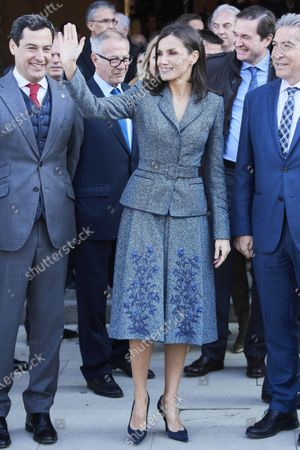 Queen Letizia visits the exhibition at the Carlos V Palace, the Alhambra