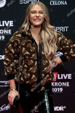 German web video producer Dagi Bee poses at the 20th 1LIVE Krone radio awards ceremony at the Jahrhunderthalle in Bochum, Germany, 05 December 2019. The radio award 1LIVE Krone is given to the best national artists of the music industry.